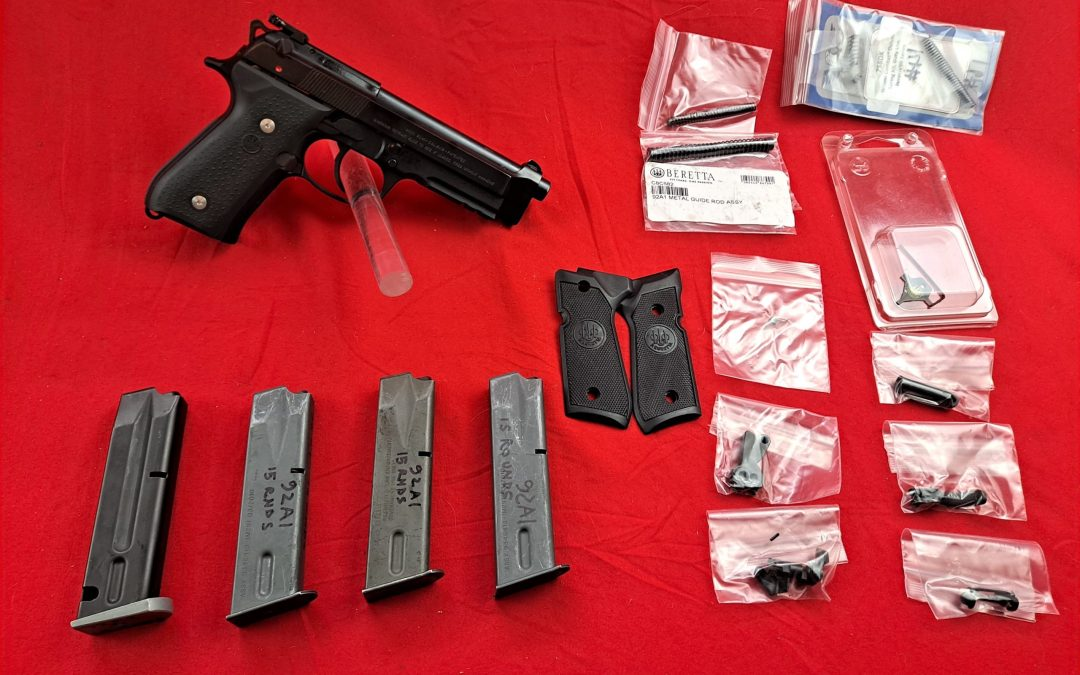Beretta 92 A1 in 9mm $850.oo with extras